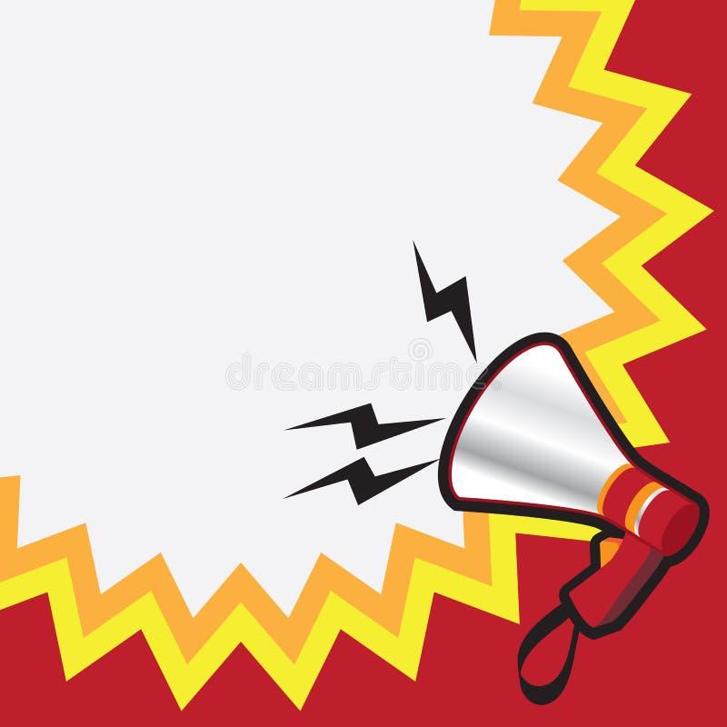mégaphone illustration libre de droits