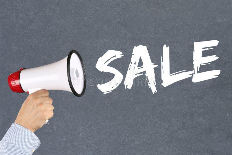 Mégaphone de achat d'offre spéciale de vente images libres de droits