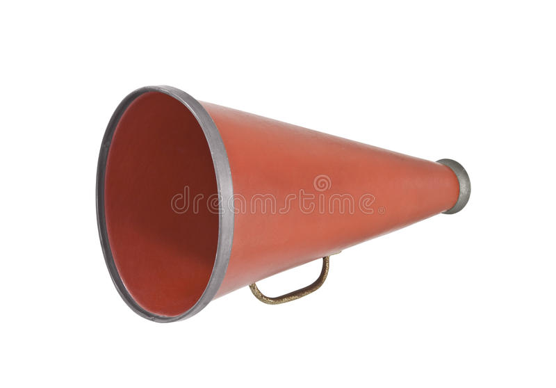 Mégaphone de cru image stock