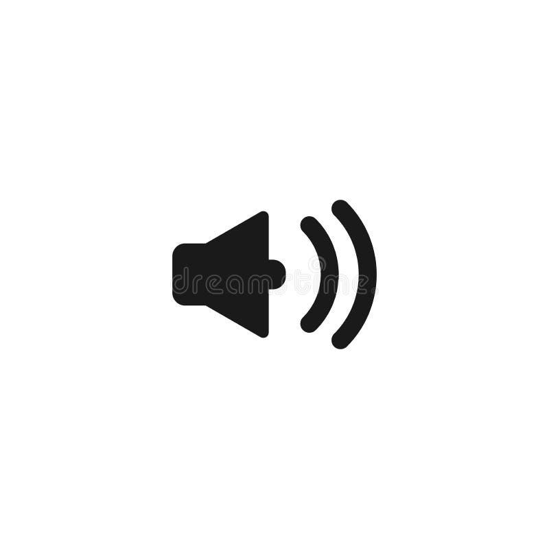 Mégaphone, icône simple de noir de vecteur de haut-parleur de klaxon illustration stock