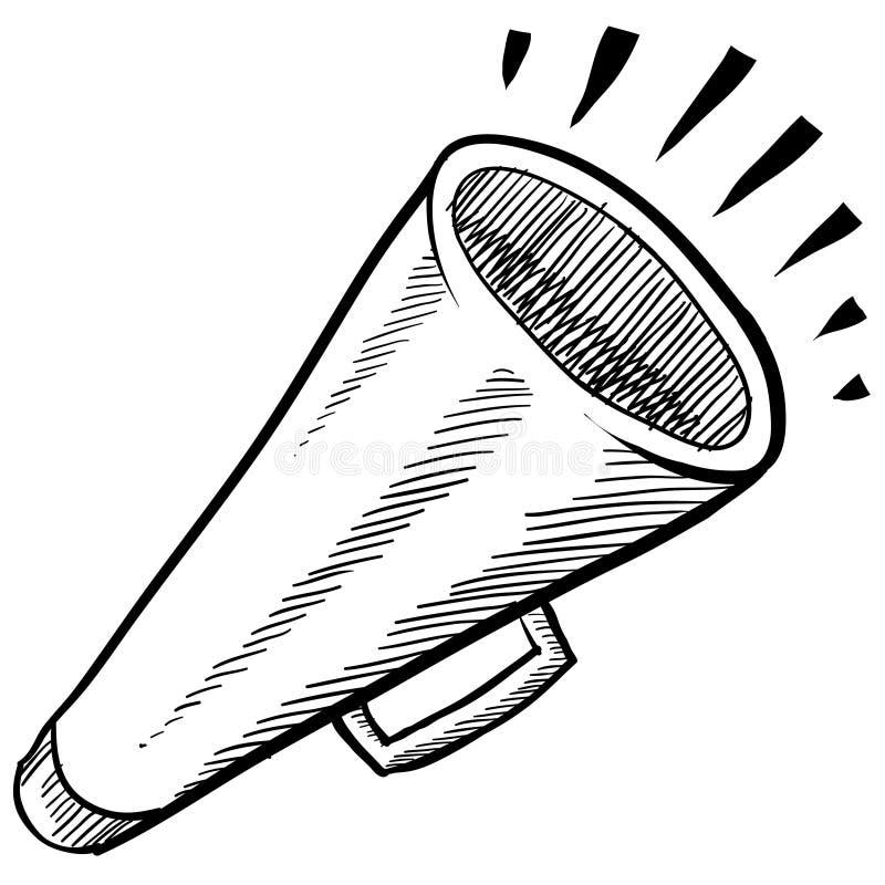 Mégaphone ou illustration d'annonce illustration de vecteur