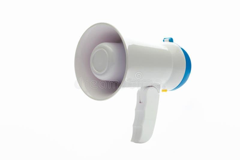 Mégaphone sur le fond blanc photos libres de droits