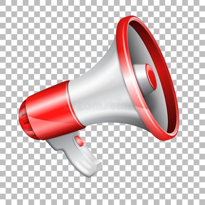 Mégaphone sur le fond transparent illustration libre de droits