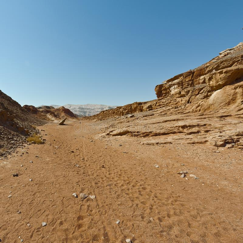 Mélancolie et vide du désert en Israël photos stock