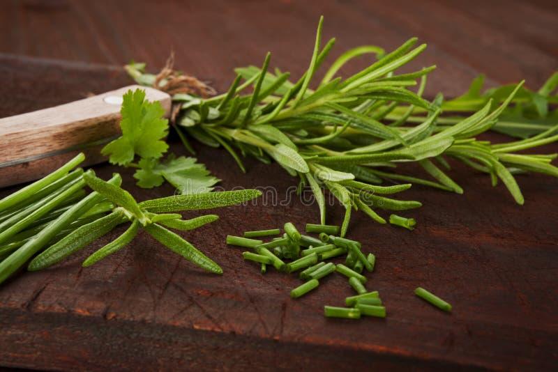 Mélange culinaire aromatique d'herbe. photos stock