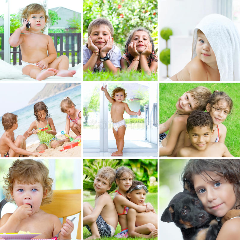 Mélange d'enfants image libre de droits