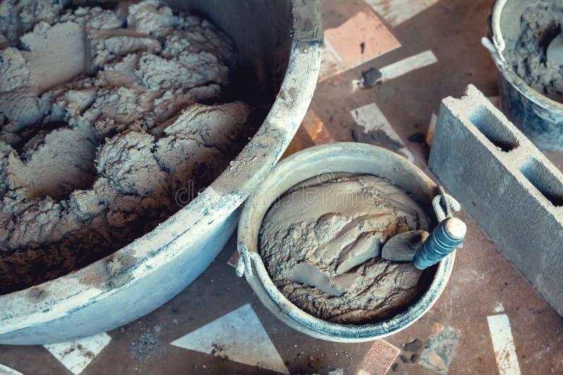Mélange de ciment image libre de droits