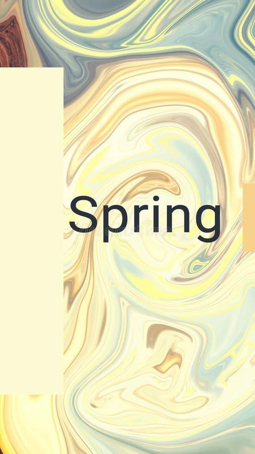 Mélange de couleur Couleurs chaudes Ressort illustration de vecteur