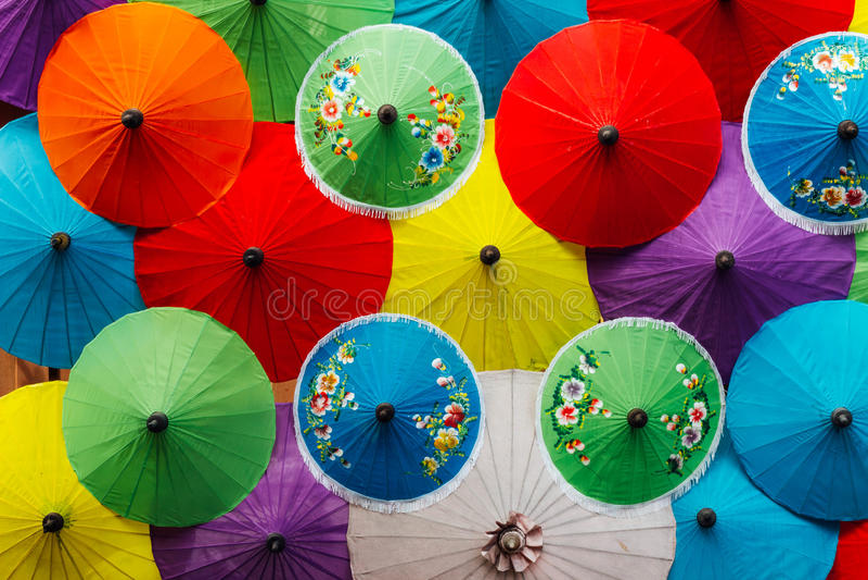 Mélange de couleur de parapluie image stock