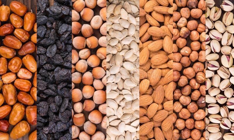 Mélange de différentes noix images stock