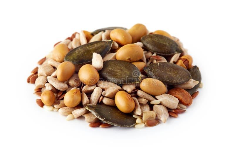 Mélange de diverses graines saines photographie stock