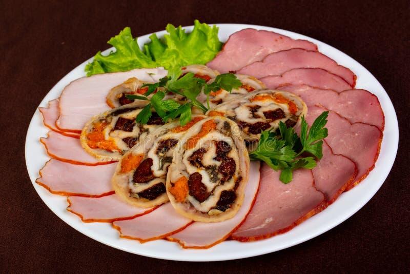 Mélange de plat de saucisses image libre de droits