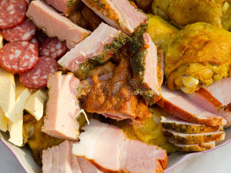 Mélange de produits à base de viande photos stock