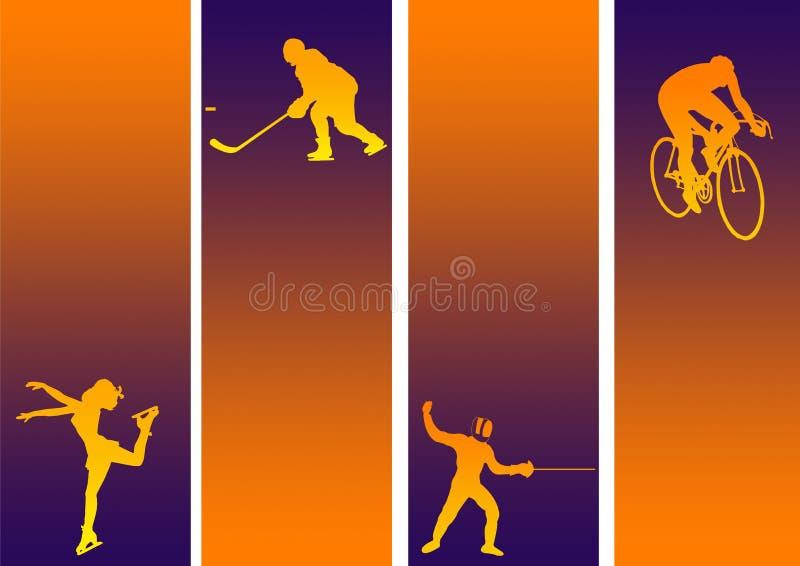 Mélange de sports illustration libre de droits