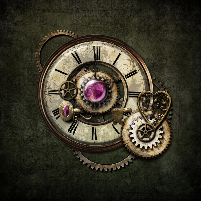 Mélange de Steampunk illustration stock