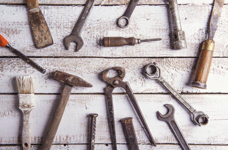 Mélange des outils de travail photographie stock