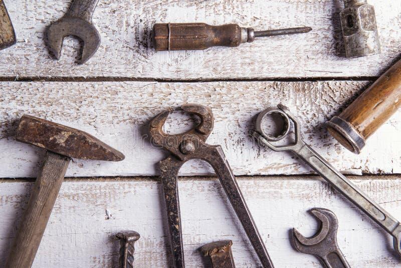 Mélange des outils de travail photo libre de droits