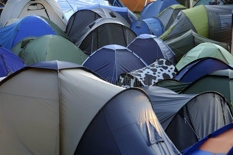 Mélange des tentes photo stock
