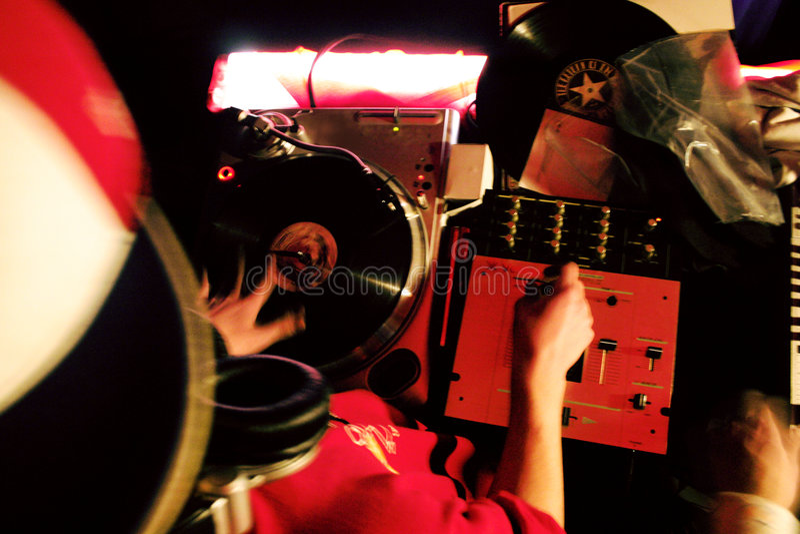 Mélange du DJ photo stock