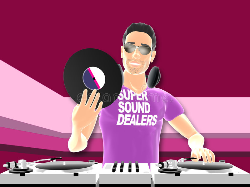 Mélange du DJ illustration stock