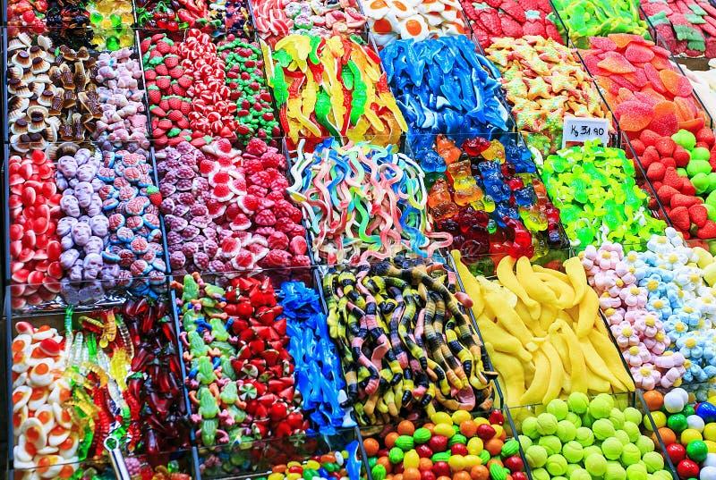 Mélange du genre différent de sucreries photos stock