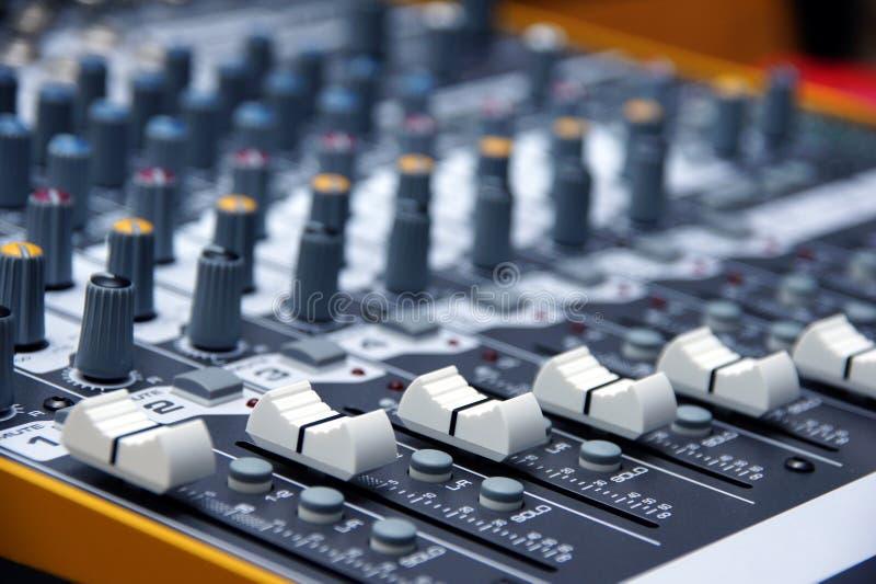 Mélangeur audio photographie stock libre de droits