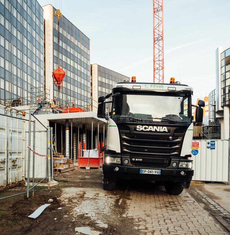 Mélangeur de ciment Scania G410 images libres de droits