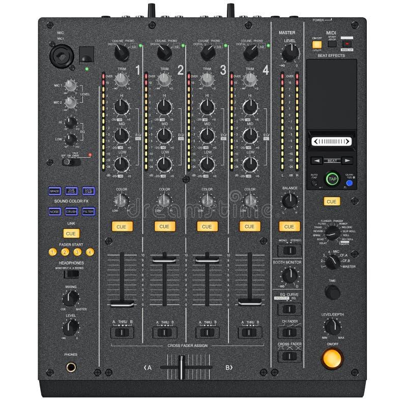 Mélangeur de Digital DJ, vue supérieure illustration de vecteur