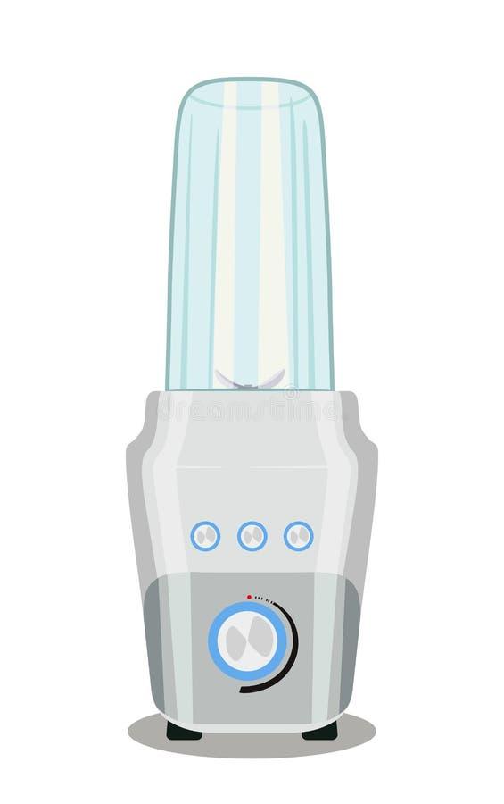Mélangeur de forme physique avec le récipient en verre Appareils électriques de cuisine Illustration de vecteur illustration de vecteur