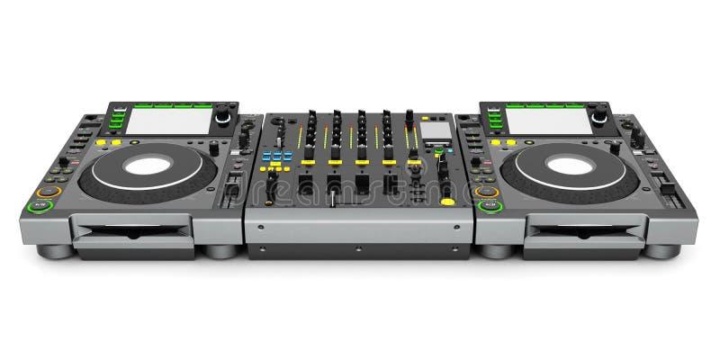 Mélangeur de musique du DJ illustration de vecteur