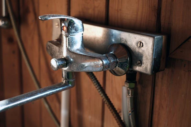 Mélangeur de robinet de douche de Bath photo libre de droits