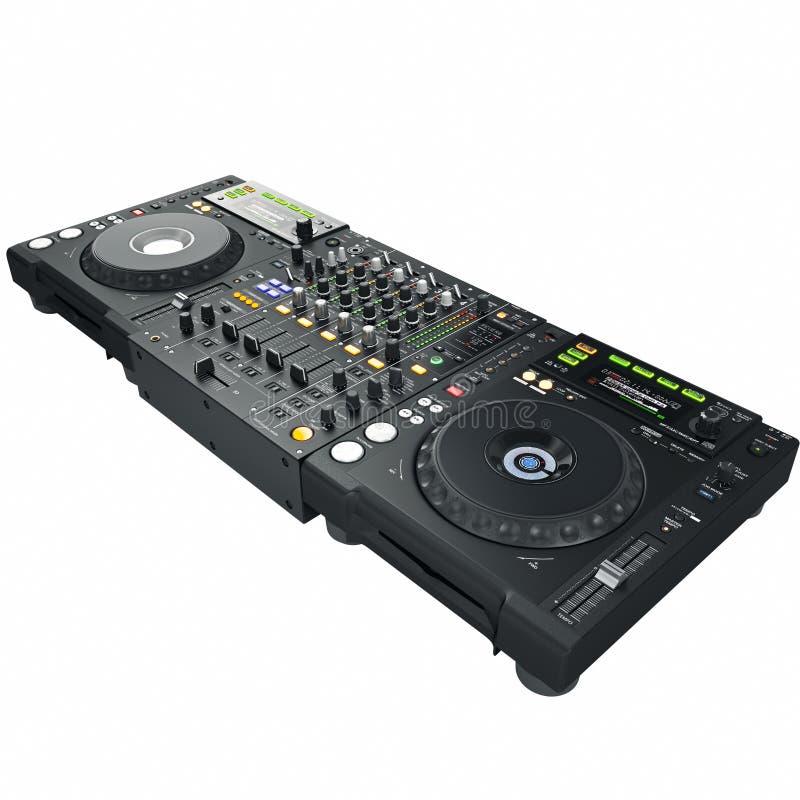 Mélangeur et joueur du DJ illustration stock