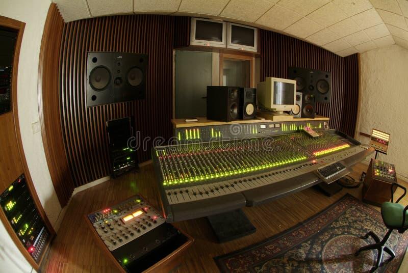 Mélangeur sonore professionnel images libres de droits