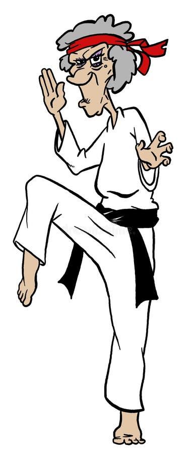 Mémé de Kung Fu illustration de vecteur