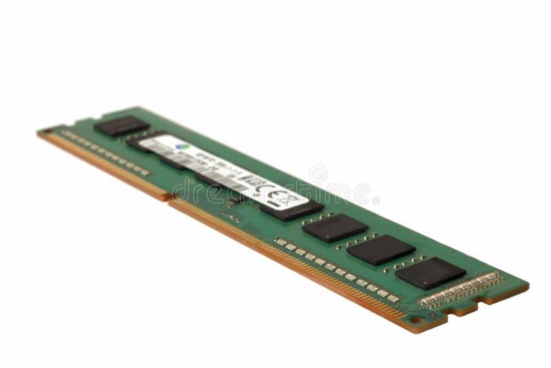 Mémoire à accès sélectif de format de DIMM pour un PC sur a photos stock