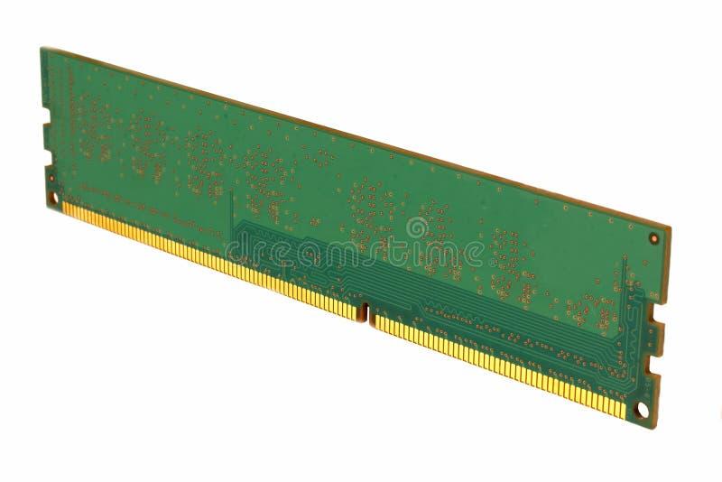 Mémoire à accès sélectif de format de DIMM pour un PC sur a images stock