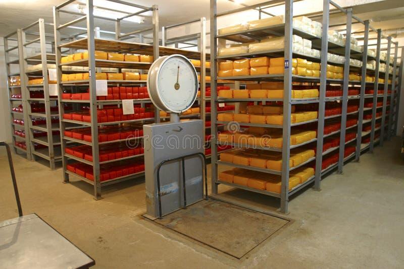 Mémoire de fromage dans la laiterie photos stock