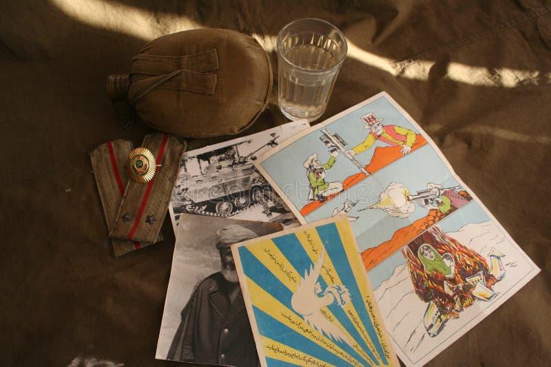 Mémoire de la terre afghane et de l'armée 40 soviétique photographie stock