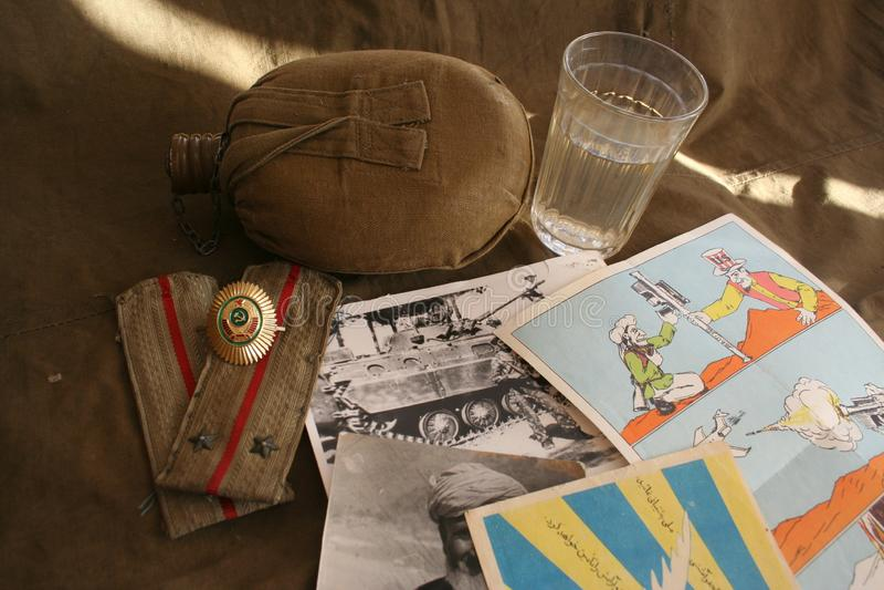 Mémoire de la terre afghane et de l'armée 40 soviétique photos libres de droits