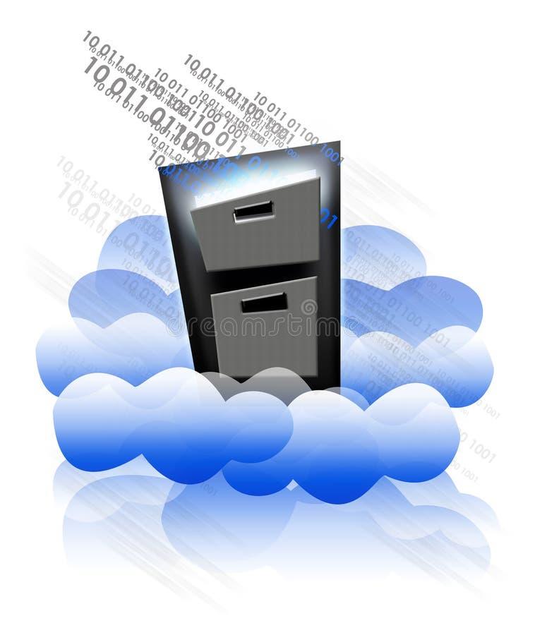 Mémoire de nuage illustration de vecteur