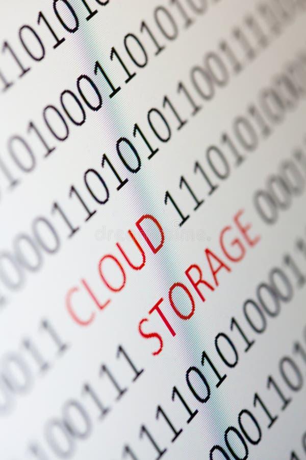 Mémoire de nuage photographie stock