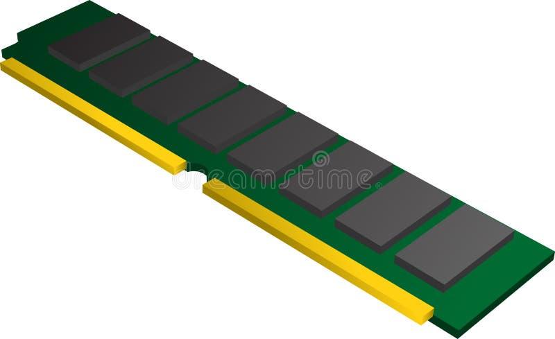 Mémoire de RAM illustration de vecteur