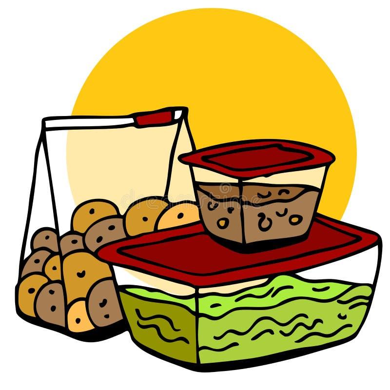 Mémoire de surplus de nourriture illustration stock