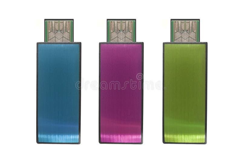 Mémoire Flash d'USB image libre de droits