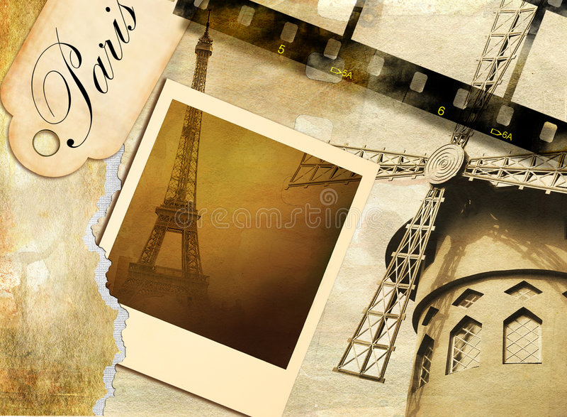 mémoires parisiennes illustration libre de droits