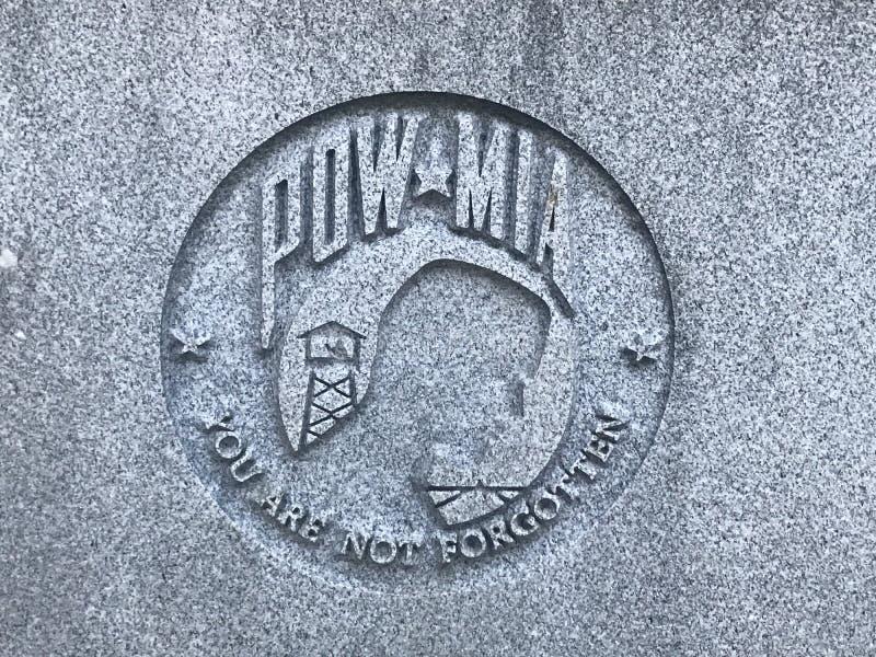 Mémorial à Carolina Veterans du sud des forces armées des États-Unis photographie stock libre de droits