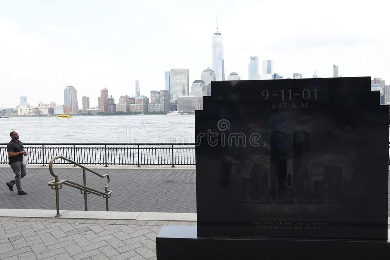 9/11/2001 MÉMORIAL À JERSEY CITY NOUVEAU JERSEN photo stock