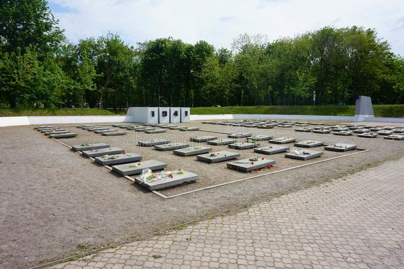 Mémorial à la mémoire de ceux tués dans la deuxième guerre mondiale et la grande guerre patriotique images stock