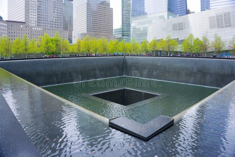 Mémorial à point zéro, Manhattan, commémorant l'attaque terroriste de septembre 2001 New York City photographie stock libre de droits