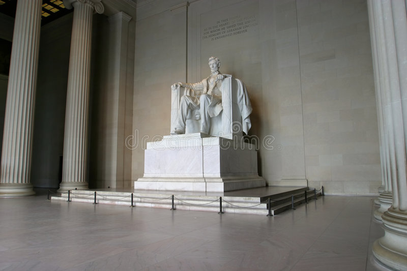 Download Mémorial 2 D'Abraham Lincoln Photo stock - Image du abraham, statue: 50574